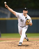 CHICAGO - SEPTEMBER 27:  Carson Fulmer #51 of the Chicago White Sox pitches against the Detroit Tigers on September 27, 2019 at Guaranteed Rate Field in Chicago, Illinois.  (Photo by Ron Vesely)  Subject:   Carson Fulmer