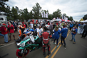 June 26-30 - Pikes Peak, Colorado. Starting grid prior to the 91st running of the Pikes Peak Hill Climb.
