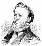 Brigham Young (1801-77) American Mormon leader. Founder of Salt Lake City. Died of Cholera morbus. Wood engraving, Paris 1877.