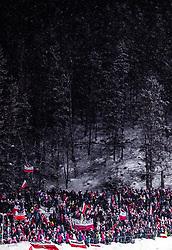 18.01.2019, Wielka Krokiew, Zakopane, POL, FIS Weltcup Skisprung, Zakopane, Qualifikation, im Bild polnische Fans // polish fans during his Qualification Jump of FIS Ski Jumping World Cup at the Wielka Krokiew in Zakopane, Poland on 2019/01/18. EXPA Pictures © 2019, PhotoCredit: EXPA/ JFK