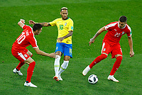 Neymar (Brazil) between Dusan Tadic (Serbia) and Sergej Milinkovic-Savic (Serbia) <br /> Moscow 27-06-2018 Football FIFA World Cup Russia  2018 <br /> Serbia - Brazil / Serbia - Brasile<br /> Foto Matteo Ciambelli/Insidefoto
