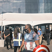 The arrival area at the 2021 New York Comic Con at the Javits Center in Manhattan, New York on Thursday, October 7, 2021. John Taggart for The New York Times