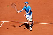 Roland Garros 2011. Paris, France. May 23rd 2011..Dutch player Thiemo DE BAKKER against Novak DJOKOVIC