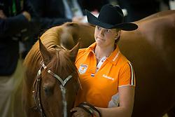 Fenna Elzinga, (NED), Smoking Kills - Horse Inspection Reining  - Alltech FEI World Equestrian Games™ 2014 - Normandy, France.<br /> © Hippo Foto Team - Dirk Caremans<br /> 25/06/14