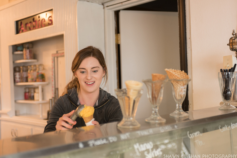 Lindsay Archibald, co-owner of Archie's Ice Cream in Dayton, Oregon.