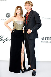 May 23, 2019 - Antibes, Alpes-Maritimes, Frankreich - Carine Reston-Roitfeld and Jordan Barrett9 attending the 26th amfAR's Cinema Against Aids Gala during the 72nd Cannes Film Festival at Hotel du Cap-Eden-Roc on May 23, 2019 in Antibes (Credit Image: © Future-Image via ZUMA Press)