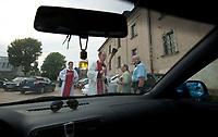 25.07.2012 Choroszcz woj podlaskie N/z swiecenie pojazdow w dniu sw Krzysztofa patrona kierowcow fot Michal Kosc / AGENCJA WSCHOD
