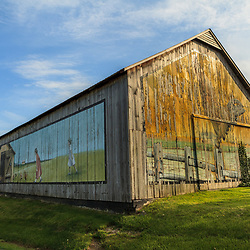 A barn painted with poultry in Lancaster County, PA