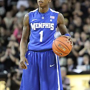 Memphis guard Joe Jackson (1) during a Conference USA NCAA basketball game between the Memphis Tigers and the Central Florida Knights at the UCF Arena on February 9, 2011 in Orlando, Florida. Memphis won the game 63-62. (AP Photo: Alex Menendez)