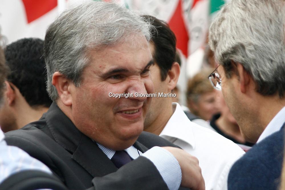 Rome/Italy oct 25 2008 - Demostration of PD (democratic party) against italian Government of Silvio Berlusconi. Fioroni