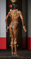 Sept.16, 2016 - Las Vegas, Nevada, U.S. -  SARAH SWEENEY competes in the Figure Olympia contest during Joe Weider's Olympia Fitness and Performance Weekend.(Credit Image: © Brian Cahn via ZUMA Wire)