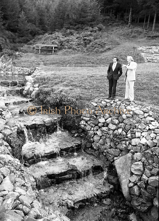 """The Carlingford Oyster Festival.1982.19.08.1982..08.19.1982.19th August 1982..Pictures and Images of the Carlingford Oyster Festival...The Minister For Fisheries and Forestry Mr Brendan Daly officially opened  The Carlingford Oyster Festival. The Chairman of the organising committee was Mr. Joe McKevitt..""""The Oyster Pearl"""" was Ms Deirdre McGrath..The Minister takes in the local sites accompanied by Mr McKevitt."""