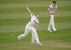 Somerset's Craig Overton bowls.   - Mandatory byline: Alex James/JMP - 07966386802 - 09/09/2015 - FOOTBALL -  - The County Ground - Taunton  - Somerset v Hampshire - LV CC -