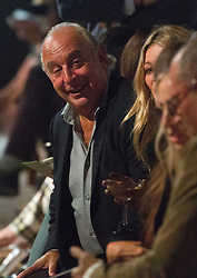 Philip Green on the front row during the TOPSHOP London Fashion Week SS18 show held at Topshop Showspace, London