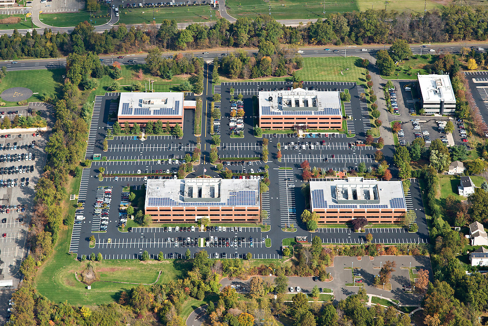 Aerial Photography of four office buildings in central NJ