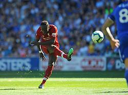 Sadio Mane of Liverpool shoots at goal- Mandatory by-line: Nizaam Jones/JMP - 21/04/2019 -  FOOTBALL - Cardiff City Stadium - Cardiff, Wales -  Cardiff City v Liverpool - Premier League