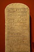 Stele of Hor-Em-Akhet Ptolemaic period 190 BC