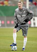 Fotball, 10. februar 2009 ,Trening foran privat-kampen mellom Norge og Tyskland<br /> Erik Huseklepp