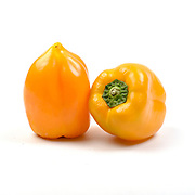 Fresh and organic Yellow Bell Pepper on white background