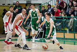 Martin Jancar Jarc of Krka during basketball match between KK Krka and KK Crvena zvezda MTS in Round #14 of ABA League 2018/19, on January 4, 2018 in Arena Leona Stuklja, Novo mesto, Slovenia. Photo by Vid Ponikvar / Sportida