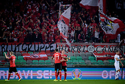 Team Austria during the 2020 UEFA European Championships group G qualifying match between Slovenia and Austria at SRC Stozice on October 13, 2019 in Ljubljana, Slovenia. Photo by Sasa Pahic Szabo / Sportida