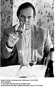 Robert Parker drinking wine. Baltimore. U.S.A.1996.<br />Film 96840f16<br />© Copyright Photograph by Dafydd Jones<br />66 Stockwell Park Rd. London SW9 0DA<br />Tel 0171 733 0108