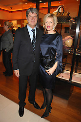 YVES CARCELLE Chairman and CEO of Louis Vuitton and his wife REBECCA CARCELLE at a reception to launch the 2007 Louis Vuitton Christmas windows in collaboration with Central Saint Martins College of Art & Design held at 17-18 New Bond Street, London W1 on 7th November 2007.<br /><br />NON EXCLUSIVE - WORLD RIGHTS