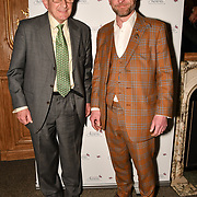 John Doubleday and guest attend the 7th annual Churchill Awards honour achievements of the Over 65's at Claridge's Hotel on 10 March 2019, London, UK.