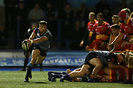 Lloyd Williams of Cardiff Blues. Guinness Pro14 rugby match, Cardiff Blues v Dragons at the Cardiff Arms Park in Cardiff, South Wales on Friday 6th October 2017.<br /> pic by Andrew Orchard, Andrew Orchard sports photography.
