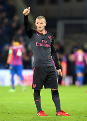 December 28, 2017 - London, England, United Kingdom - Arsenal's Jack Wilshere thumps up to the fans..during Premier League  match between Crystal Palace and Arsenal at Selhurst Park Stadium, London,  England 28 Dec 2017. (Credit Image: © Kieran Galvin/NurPhoto via ZUMA Press)