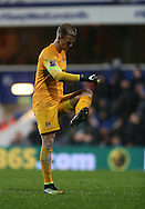 Manchester City's Joe Hart looks at his boots after another poor kick<br /> <br /> - Barclays Premier League - Queens Park Rangers vs Manchester City- Loftus Road - London - England - 8th November 2014  - Picture David Klein/Sportimage