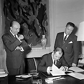 1967 - Signing of agreement in France for Bord Iascaigh Mhara