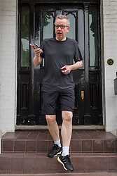 © Licensed to London News Pictures. 27/05/2019. London, UK. Secretary of State for Environment, Food and Rural Affairs, MICHAEL GOVE MP, is seen leaving his London home to go jogging today. Mr Gove officially announced that he will run for leadership of the Conservative Party yesterday following Prime Minister, Theresa May's resignation last week. Photo credit: Vickie Flores/LNP