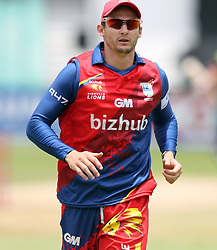 Nicky van den Bergh of the Bizhub Highveld Lions during the T20 Challenge cricket match between the Lions and the Warriors at the Kingsmead stadium in Durban, KwaZulu Natal, South Africa on the 4th December 2016<br /> <br /> Photo by:   Steve Haag / Real Time Images