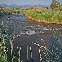 Hyalite Creek flows through Montana's Gallatin Valley, near Belgrade & Bozeman