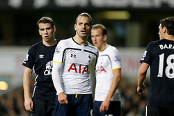 Roberto Soldado of Tottenham Hotspur looks on - Photo mandatory by-line: Rogan Thomson/JMP - 07966 386802 - 30/11/2014 - SPORT - FOOTBALL - London, England - White Hart Lane - Tottenham Hotspur v Everton - Barclays Premier League.