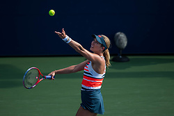 August 28, 2018 - Flushing Meadow, NY, U.S. - FLUSHING MEADOW, NY - AUGUST 28: DANIELLE COLLINS (USA) day two of the 2018 US Open on August 28, 2018, at Billie Jean King National Tennis Center in Flushing Meadow, NY. (Photo by Chaz Niell/Icon Sportswire) (Credit Image: © Chaz Niell/Icon SMI via ZUMA Press)