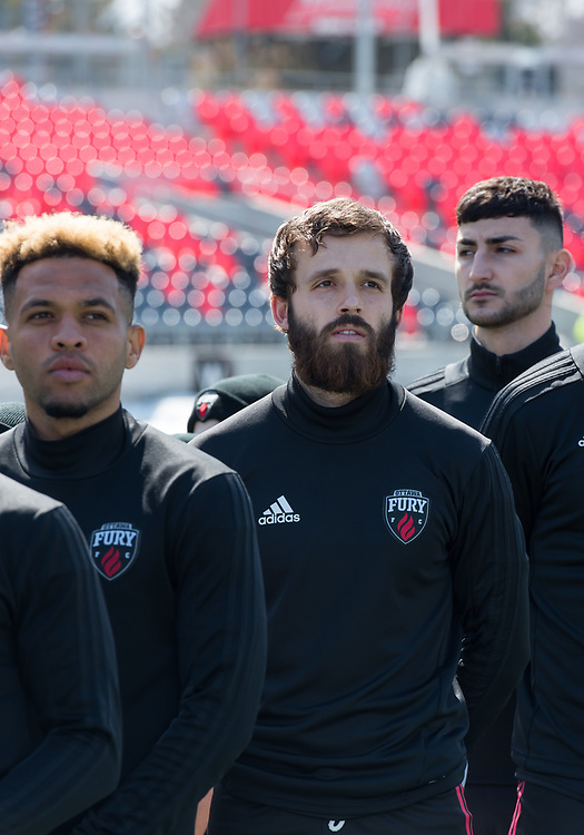 OTTAWA, ON - APRIL 6: USL Championship match between the Ottawa Fury FC and NashvilleSoccer Club at TD Place Stadium in Ottawa, ON. Canada on April 6, 2019.<br /> <br /> PHOTO: Steve Kingsman / Freestyle Photography for Ottawa Fury FC