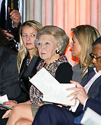 Uitreiking van de Prins Claus Prijs 2014 n het Koninklijk Paleis in Amsterdam.<br /> <br /> Presentation of the Prince Claus Award in 2014 n the Royal Palace in Amsterdam.<br /> <br /> op de foto / On the photo: <br />   koningin Maxima, prinses Beatrix, prinses Mabel, /// Queen Maxima, Princess Beatrix, Princess Mabel,