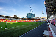 General stadium view inside the Brentford Community Stadium before the EFL Sky Bet Championship match between Brentford and Middlesbrough at Brentford Community Stadium, Brentford, England on 7 November 2020.