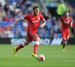 Cardiff City's Aron Gunnarsson - Photo mandatory by-line: Alex James/JMP - Mobile: 07966 386802 30/08/2014 - SPORT - FOOTBALL - Cardiff - Cardiff City stadium - Cardiff City  v Norwich City - Barclays Premier League