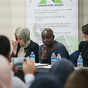 London, Uk. 15th October 2017. Collin Adams – Islington Hate Crime Forum join the discussion Hate Crime Against Muslim Women.