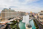 Las Vegas Cityscape The Bellagio Hotel and fountain