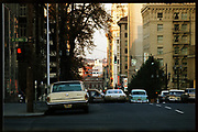 CS01519-14.  SW 6th looking north from SW Columbia St. Jesus is the Light of the World sign. November 1967 process date. Ektachrome