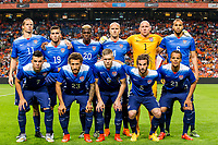 AMSTERDAM - Nederland - USA , Amsterdam ArenA , Voetbal , oefeninterland , 05-06-2015 , (boven vlnr) Brek Shea , Ventura Alverado , Gyasi Zardes , Michael Bradley , Brad Guzan , John Brooks , (onder) Alfredo Morales , Fabian Johnson  , Aron Johannsson , Kyle Beckerman , Timmy Chandler