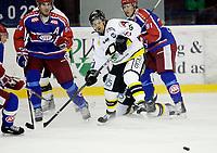 Ishockey<br /> Getligaen 2009<br /> Jordal Amfi<br /> 29.10.2009<br /> Vålerenga - Stavanger<br /> Jaako Niskavaara i duell med Regan Kelly<br /> Foto: Eirik Førde