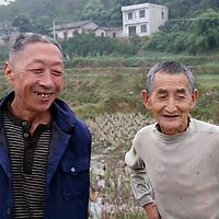 Asia, China, Yichang. Two farmers in Yichang.