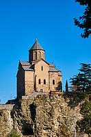 Georgie, Caucase, Tbilissi, vieille ville, l'église armenienne Metekhi // Georgia, Caucasus, Tbilisi, old city, Metekhi armenian church