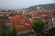 View of St Nicholas (R) and the Little Quarter of Prague from Prague Castle in Prague, Czech Republic. The castle, first constructed in the 10th century is the seat of government in the Czech Republic.
