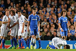 18.09.2013, Stamford Bridge, London, ENG, UEFA Champions League, FC Chelsea vs FC Basel, Gruppe E, im Bild Basel's Mohamed Salah kisses the pitch after scoring a goal  during UEFA Champions League group E match between FC Chelsea and FC Basel at the Stamford Bridge, London, United Kingdom on 2013/09/18. EXPA Pictures © 2013, PhotoCredit: EXPA/ Mitchell Gunn <br /> <br /> ***** ATTENTION - OUT OF GBR *****